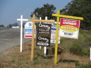 For sale signs in California. .
