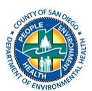 County of San Diego Department of Environmental Health.