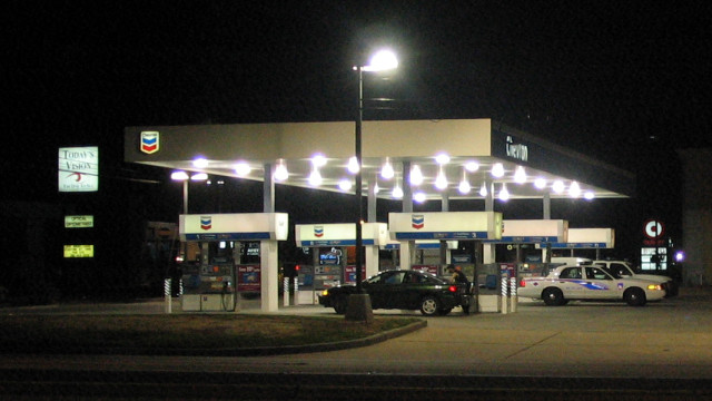 Chevron gas station. Photo from Wikimedia.org