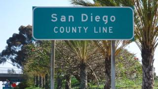 San Diego County line