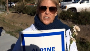 Gayle Malone of Alpine Teachers Association. Image from YouTube.com