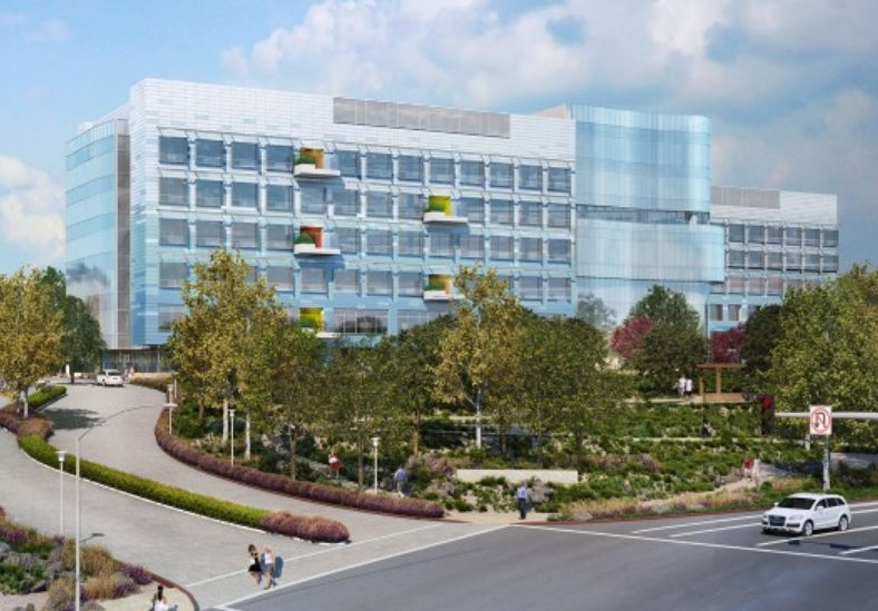 Rendering of Kaiser Permanente's new San Diego hospital. Courtesy CO Architects.