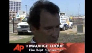 Maurice Luque on the job in 2013 as San Diego Fire-Rescue Department spokesman.