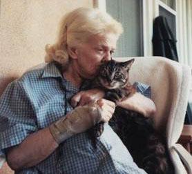 Senior with pet. Photo courtesy Helen Woodward Animal Center.