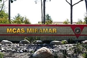 Entrance to Marines Corps Air Station Miramar. Marines Corps photo.