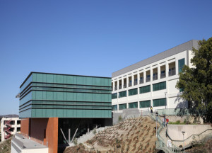 San Diego State University's renovated Nasatir and Storm Hall complex. University photo.