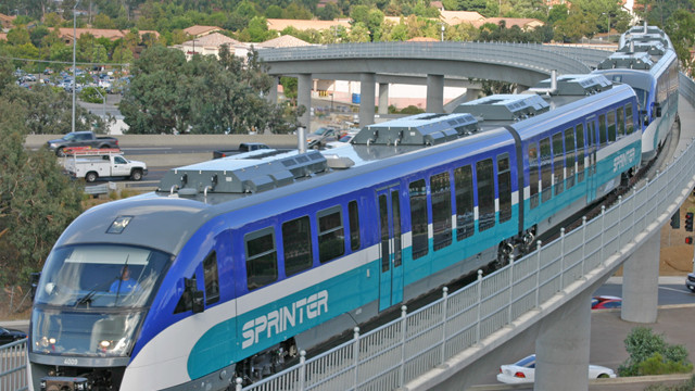 A Sprinter train operated by the North County Transit District. Photo courtesy NCTD.