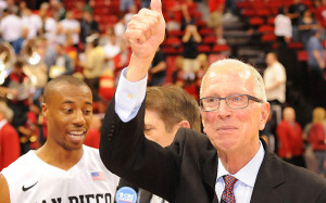 San Diego State basketball coach Steve Fisher.