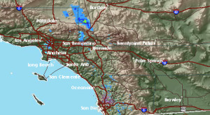 San Diego County weather map for Feb. 26, 2014. Image from National Weather Service