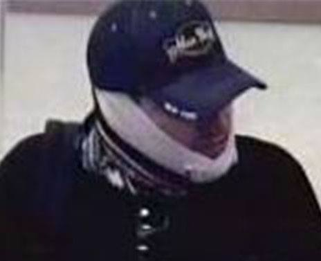 Suspect in March 18 Poway bank robbery. Photo credit: San Diego County Sheriff's Department.