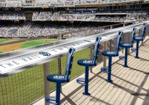 A new seating area for 2014 at Petco Park, where the Padres open with the Los Angeles Dodgers March 30, 2014. Photo credit: San Diego Padres/Facebook