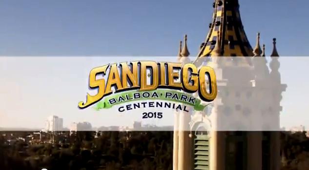 Scene from Balboa Park Centennial Celebration video. Image from YouTube.com