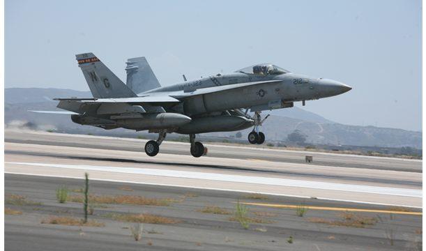 An F/A-18C Hornet. Marine Corps photo