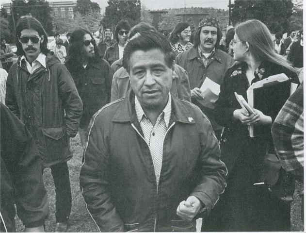 Cesar Chavez in 1974. Photo via Wikimedia Commons