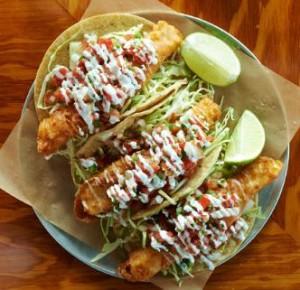 Fish tacos at Hello Betty Fish House. Photo courtesy Sage Restaurant Group