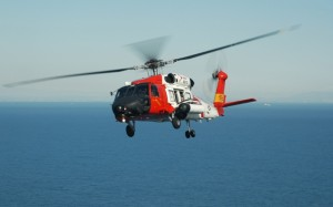 A Coast Guard helicopter aided in the rescue. Photo credit: coastguard.dodlive.mil