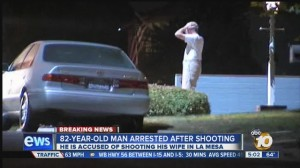 La Mesa shooting in which an elderly man was accused of shooting his wife. Photo credit: 10News.com.