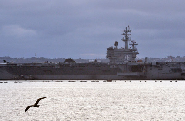 USS Ronald Reagan docked at Coronado.  Photo by Chris Stone