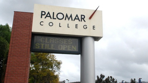 Palomar College sign.  Photo by Chris Stone