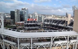 Petco Park as seen from the Omni San Diego Hotel.  Photo by Chris Stone