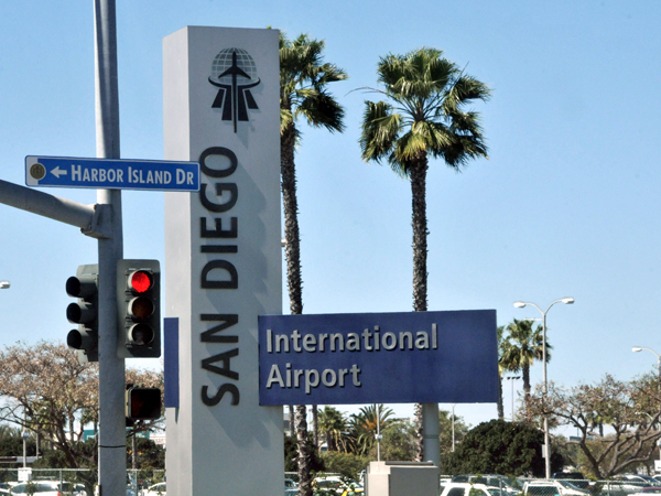 Entrance to San Diego International Airport Photo by Chris Stone