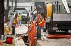 An electrical utility work crew. Photo courtesy SDG&E