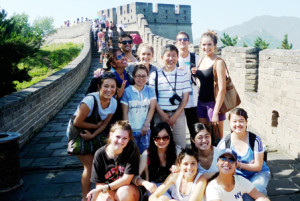 SDSU students at the Great Wall of China during a study abroad summer trip. Photo courtesy SDSU News Center
