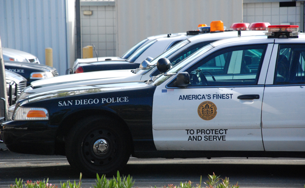 San Diego Police Department cruisers.  Photo by Chris Stone