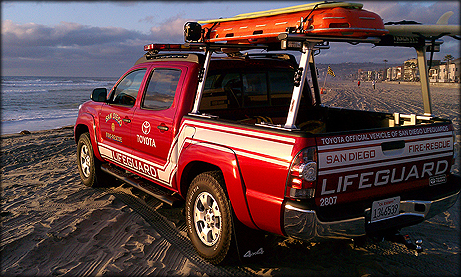 A San Diego Lifeguard Services vehicle. Photo courtesy City of San Diego
