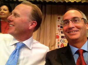 Scott Barnett (right) posted on Facebook this selfie of himself with Mayor Kevin Faulconer