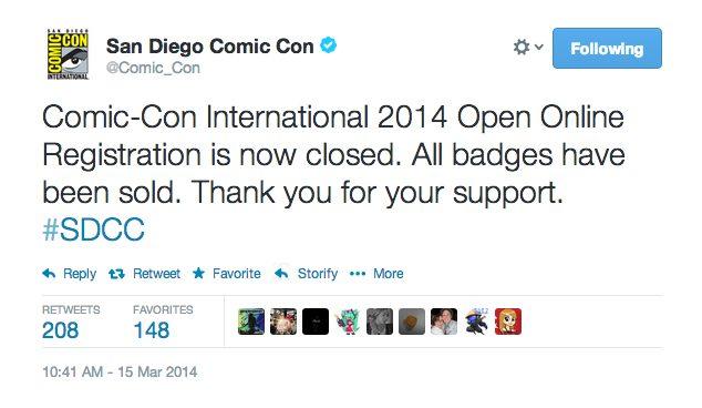 Comic-Con announcement. Photo credit: Screen shot of @Comic_Con/Twitter