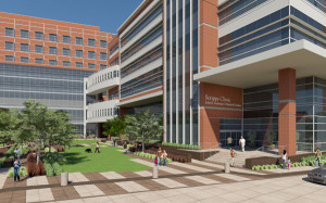 Artist's rendering of Scripps Memorial Hospital John R. Anderson V Medical Pavilion. Image from scripps.org