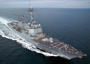 Guided missile destroyer Kidd. Image courtesy of Wikimedia Commons