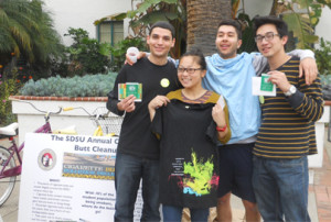 More than 50 students participated in the annual cigarette butt cleanup on March 22. Photo courtesy SDSU News Center