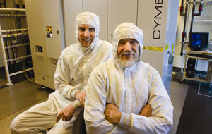 UCSD alumni Robert Akins, left, and Richard Sandstrom founded Cymer. Photo courtesy UCSD