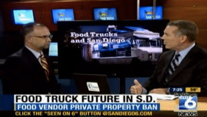 Food truck rules discussed. Image from XETV via YouTube.com