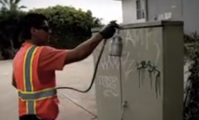 San Diego County Sheriff's Department graffiti tracker. Image from YouTube
