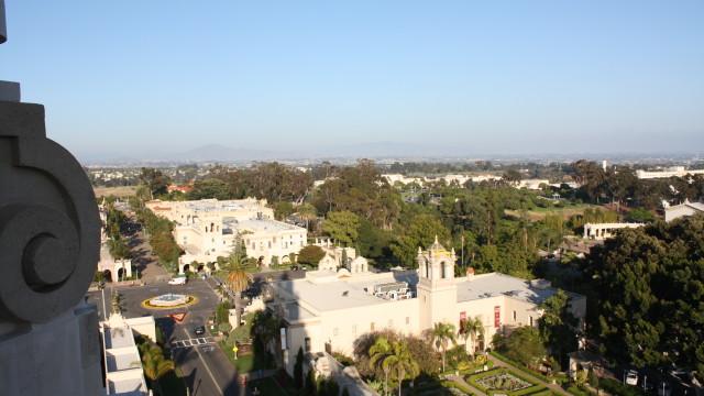 View of Balboa Park buildings along El Prado. Photo by Heather Hart via Balboa Park Online Collaborative