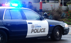 La Mesa police.  Photo by Chris Stone