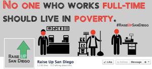 Image from Facebook page of Raise Up San Diego.