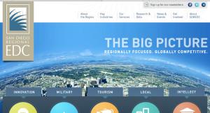 San Diego Economic Development Corp. homepage. Image from sandiegobusiness.org