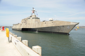 USS Coronado at Naval Air Station, North Island, in preparation for commissioning. Navy photo