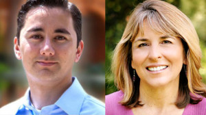 Chris Cate and Lorie Zapf. Campaign photos