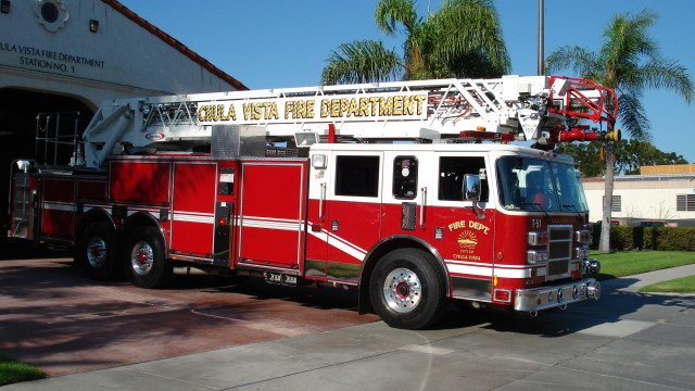 A Chula Vista fire truck. Photo courtesy of the city