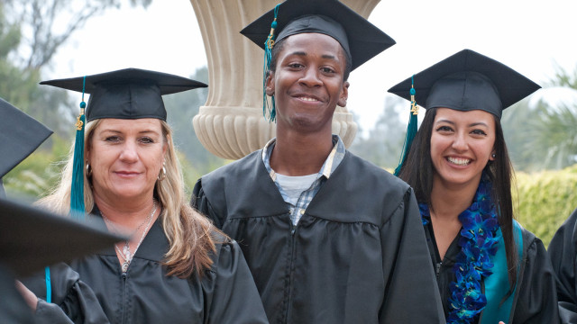 Graduating community college students. Photo courtesy San Diego Community College District