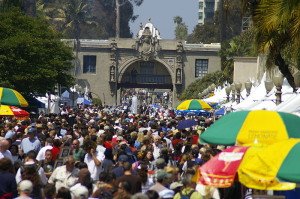 Crowds at Balboa Park for Earth Day in 2011. Photo via Wikimedia Commons