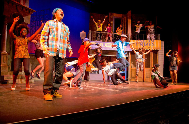 "Scene from ""In The Heights"" at San Diego City College. Photo by Manuel Rotenburg"