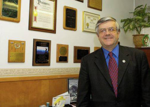 Chula Vista mayoral candidate Jerry Rindone in his office. File photo