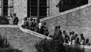 Soldiers from the 101st Airborne Division escort the Little Rock Nine students into the all-white Central High School in Little Rock, Ark. in 1957. Photo courtesy Wikimedia Commons