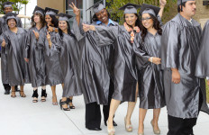 MiraCosta College adult high school graduates at commencement. Photo vis MiraCosta College